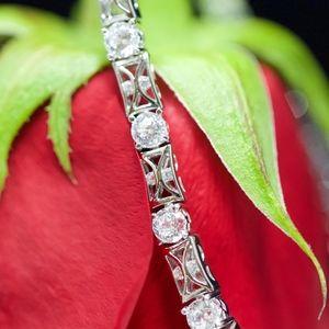 925S Tacori White Topaz Tennis Bracelet